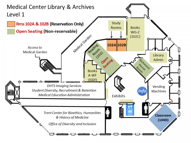 Library Floor Plans | Duke University Medical Center Library Online